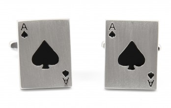 Playing Cards cufflinks - Ace of Spades II