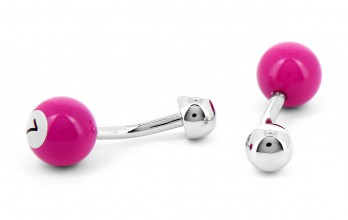Fuchsia billiard ball cufflinks - Blackpool 7
