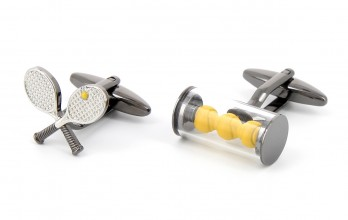 Tennis cufflinks - Melbourne