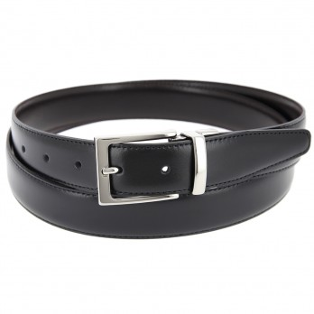 Reversible belt in black and dark brown - James