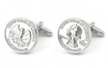 Coin cufflinks - Quarter Dollar