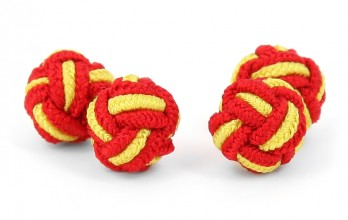 Red and yellow silk knots - Bombay
