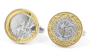 Coin cufflinks - Euro II