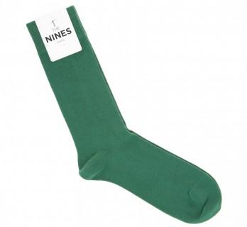 Combed cotton socks in english green