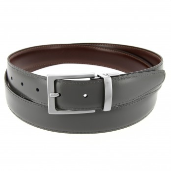 Reversible belt in brown and grey - James