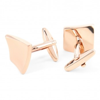 Squared rose gold cufflinks - Barcelone