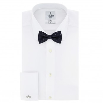 Navy Blue Bow Tie with White Polka Dots - Washington II