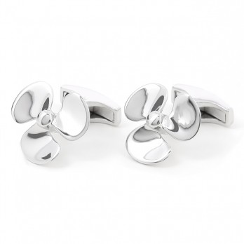 Sterling silver propeller cufflinks - Brisbane