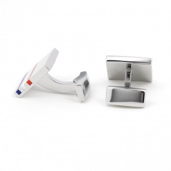 Squared blue, white, red cufflinks - Kobe V