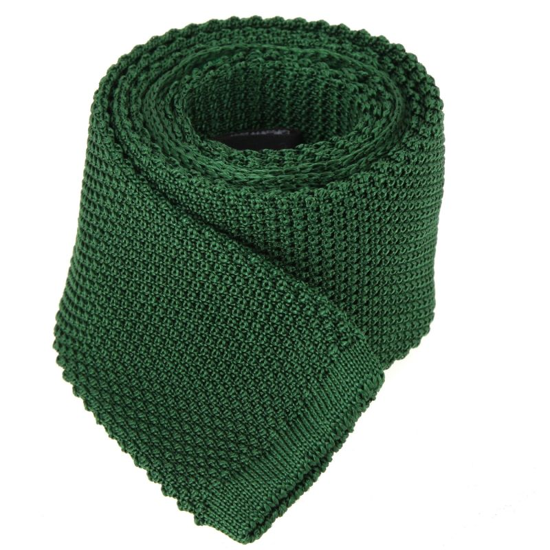 Dark Green Knitted Tie The Nines