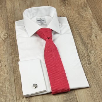 Coral Pink Knitted Tie - Monza