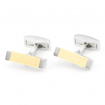 Rectangular bamboo cufflinks - Deajon