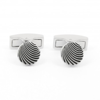 Round wave cufflinks - Evora