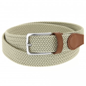 Elastic braided belt in ecru - Rob III
