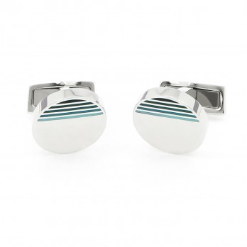 Green stripes cufflinks - Cezembre