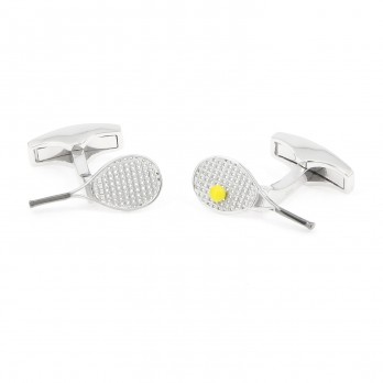 Sterling silver tennis cufflinks - Key Biscane