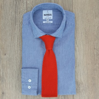 Orange Knit Tie - Monza