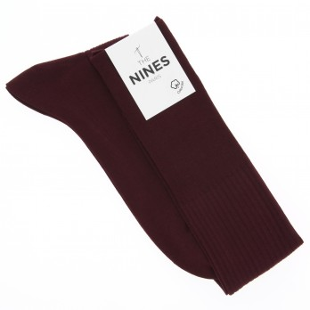 Burgandy organic Giza cotton knee socks