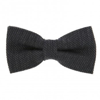 Anthracite Grey Bow Tie in Grenadine Silk and Wool