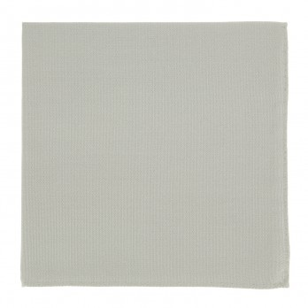 Light Grey Pocket Square in Silk - Côme