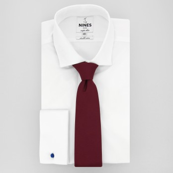 Burgundy Tie in Silk - Côme