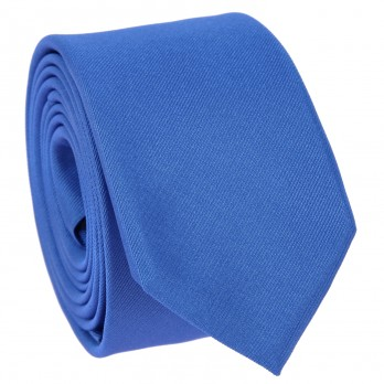 Royal Blue Slim tie in Silk - Côme