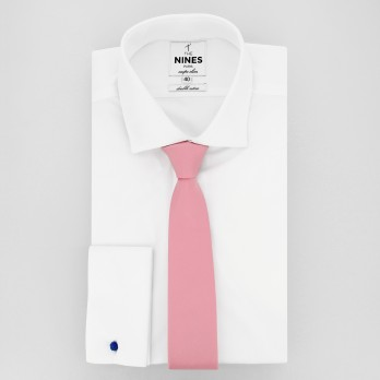 Pink Slim tie in Silk - Côme