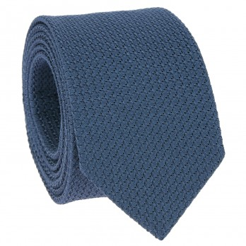 Navy Blue Grenadine Silk Tie - Grenadines III