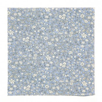 Light Blue Liberty Pocket Square with Flowers