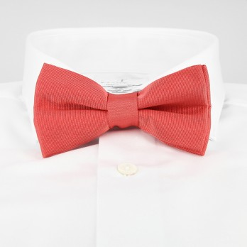 Coral Bow Tie in Silk