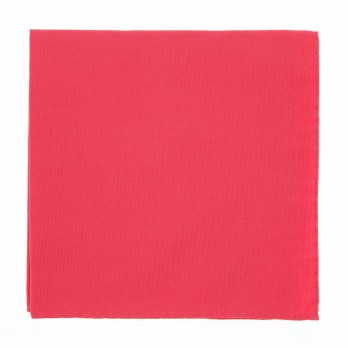 Coral Pink Pocket Square in Silk