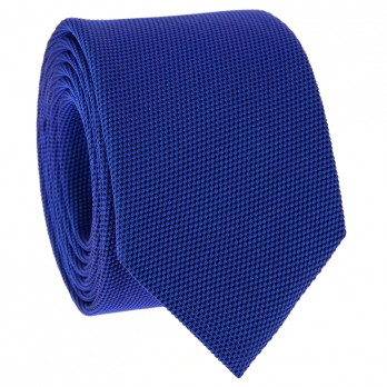 Cobalt Blue Tie in Basket Weave Silk