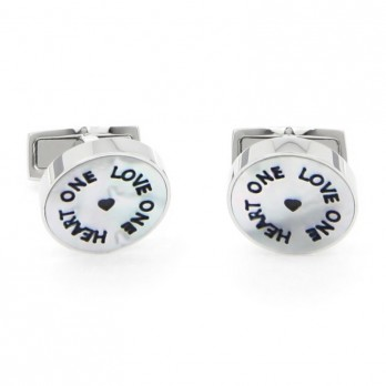 One love One heart cufflinks