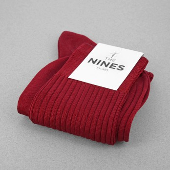 Amaranth Red Cotton Lisle Socks