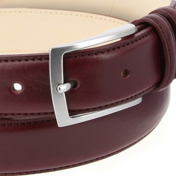 Burgundy Leather Belt - Ugo