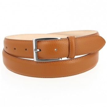 Full-Grain Leather Belt in Camel - Enzo