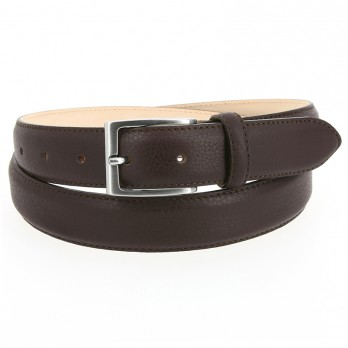 Full-Grain Leather Belt in Dark Brown - Enzo