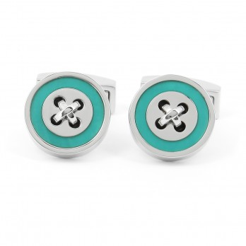 Turquoise Button Cufflinks - Baltimore