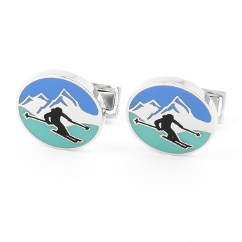 Alpine Skiing Cufflinks