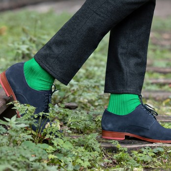 Clover Green Cotton Lisle Socks