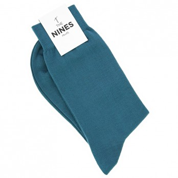 Cotton socks petrol blue