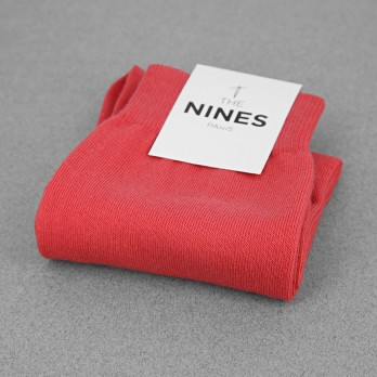Cotton socks coral red