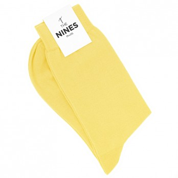 Cotton socks straw yellow