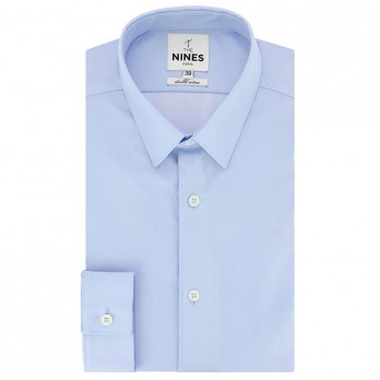 French collar shirt mini twill light blue