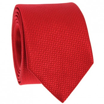 Jacquard silk tie japanese pattern seigaiha red