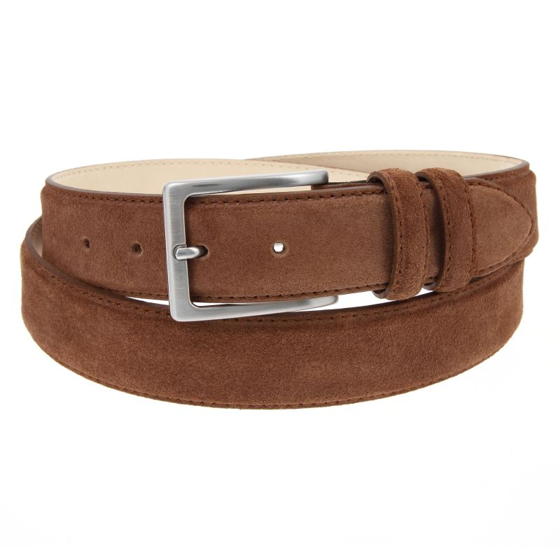Suede Leather Belt Chocolat - Lino