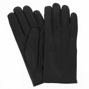 Black lambskin leather gloves with cashmere lining