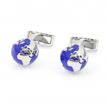 Earth globe cufflinks - Small World