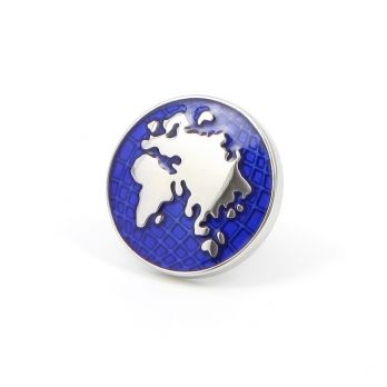 Pin's mappemonde Europe, Asie, Afrique - Globe Trotter