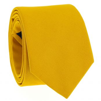 Mustard yellow cotton tie - Sorrente